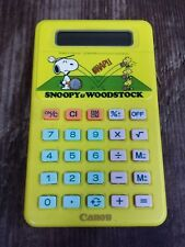 VTG 1960's Canon Snoopy Woodstock Calculator LC-402 Peanuts Cartoon Works Japan
