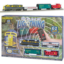 Bachmann 01501 Blue Lightning Electric Train Set w/ E-Z App Bluetooth HO Scale