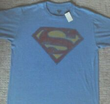 Vintage Superman Weathered Shield T Shirt_ Size Medium_ Licensed_ New with tags