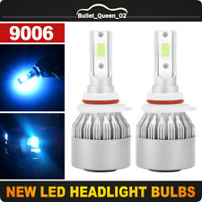 2x 9006 Ice Blue 8000K LED Headlight Conversion Kit High Low Beam Fog Light Bulb