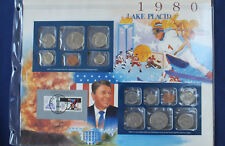 1980 United States Historic Year Panel Coin and Stamp Set PCS E3517