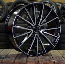 18 Zoll V-Wheels V2 Alu Felgen 5x112 schwarz poliert für Audi S-Line RS S5 Q2 Q3