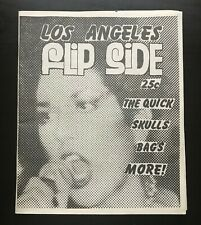 FLIPSIDE FANZINE ISSUE #6 MAGAZINE THE QUICK SKULLS BAGS ALICE BAG NM 1977