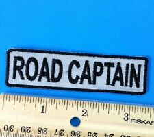 ROAD CAPTAIN Patch Motorcycle Club Rank Officer Reflective Patches for Vest Nigh