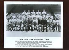 1973/1974 NHL Hockey New York Islanders Team 8 X 10 Photo