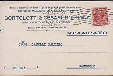 Pubblicitaria - Mercerie, Naglierie, Filati all'ingrosso, Bologna, viaggiata.