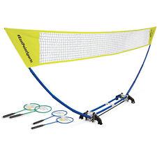 Easy Setup Badminton Net Set Portable Weatherproof Playset Backyard Beach Game