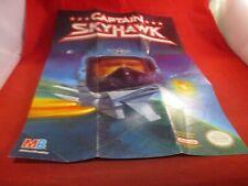 Captain Skyhawk Nintendo NES Promo Poster Insert ONLY