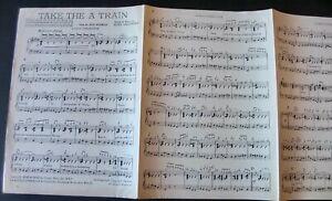 BILLY STRAYHORN TAKE THE A TRAIN PIANO CONDUCTOR SHEET MUSIC (1943) JAZZ ENGLAND