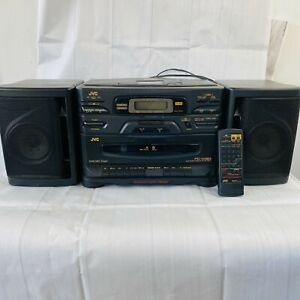 JVC PC-X130 Cassette CD Radio Portable System/Boom Box TESTED w/ Remote