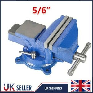 UK Heavy Duty 125/150mm Work Bench Vice Engineer Jaw Swivel Base Vise Clamp