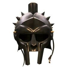 RED DEER® Roman Arena Spiked Gladiator Helmet (All Black)