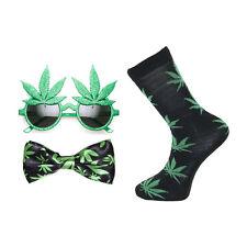 Marijuana Foglia PAPILLON, Novelty Occhiali & Calze Set