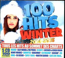 100 HITS WINTER 2014 - 2015 - 5 CD COMPILATION NEUF ET SOUS CELLO