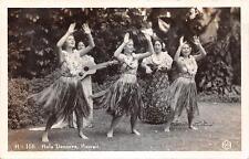 RPPC HULA DANCERS Women in Grass Skirts, Hawaii c1930s Vintage Postcard