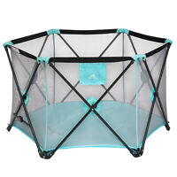 Portable Playpen Indoor/Outdoor Includes Carry Bag Safety Playard