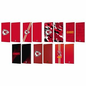 OFFICIAL NFL KANSAS CITY CHIEFS LOGO LEATHER BOOK WALLET CASE FOR AMAZON FIRE