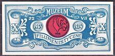 POLAND 1974 Matchbox Label - Cat.A#037a.pp. X th Museum of Filumenistics.