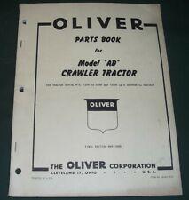 Oliver Model Ad Crawler Tractor Parts Manual Book Orignal