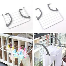 Folding Adjustable Drying Racks Shelf Balcony Multi-use Clothes Drying Hanger W