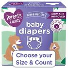 Parent's Choice Diapers Size Newborn, 1, 2, 3, 4, 5, 6, 7 *Choose Size & Count