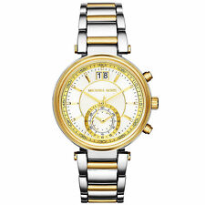 NEW AUTHENTIC MICHAEL KORS MK6225 SAWYER GOLD SILVER TWO TONE WOMEN'S WATCH