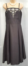 TOGETHER ** SIZE 14 ** BLACK BEADED EVENING DRESS ** BNWT