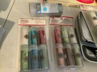 2 New Martha Stewart Crafts Glitter and Glue Sets ~ 6 Tubes Each Package