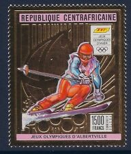 Central Africa 1992 - Sports Winter Olympics Albertville Gold Foil - Sc 955B MNH