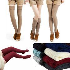 Chaussettes hautes pour femme bas chaussette chaude hiver Couleur au choix