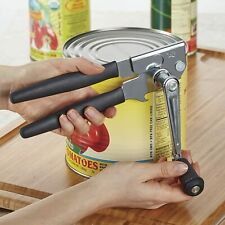 New listing Hand Crank Can Opener Large Commercial Steel Manual Heavy Duty Restaurant Black