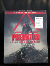 Predator Trilogy 3 Movie Collection Blu-Ray Digital HD Steelbook Sealed New Mint