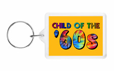 CHILD OF THE 60'S - NOVELTY RAINBOW KEYRING - GREAT FUN CHRISTMAS GIFT