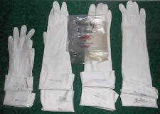 "4 Pairs Boulton White Washable Doeskin Gloves - 15"" & 10-1/2"" - Made in England"