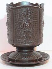 Antique Wilhelm Schiller & Sohn Footed Beaker with Saucer