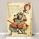 "Vintage Japanese SAMURAI WARRIOR Art CANVAS PRINT 8x10""~ Kuniyoshi #024"