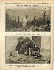 Bataille d'Alsace Bombardement d'Hilsenfirst Vallée de la Fecht & Lauch 1916 WWI