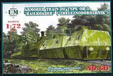 """UM-MT Models 1/72 SOVIET WWII ARMORED TRAIN TYPE OB-3 """"ZHELEZNODOROZHNIK"""""""