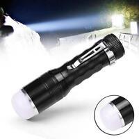 1200LM 3 Modes Q5 LED Portable Flashlight Torch Lamp Pen-type AAA Black ZH