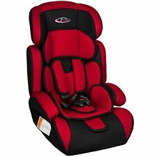 Tectake - Siège Auto Groupe I/ii/iii pour Enfants 9-36 kg 1-12 ans Rouge/noir