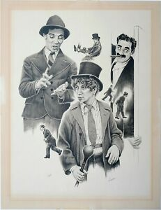 Vintage Print, Marx Brothers, Pencil Signed by Lanse, Limited Edition Serigraph
