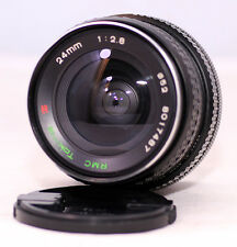 Exc++ Tokina RMC 24mm f2.8 Manual Prime Wide Lens With Canon FD Mount