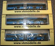 3er Set vkmodelle Solaris Urbino 18 Gelenkbus KVG Linie 18, 19, 37 OVP ladenneu,