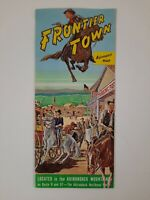 FRONTIER TOWN map VINTAGE Adirondack Mountains 1960s COWBOY THEME