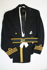 Korean War Era Canadian RCN Officers Mess Dress Named with Trousers and Belt