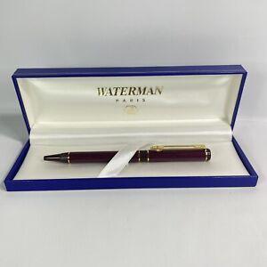 Waterman Centurion Ballpoint Pen Red & Gold Click Pen