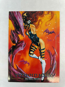 SINGLE CHASE CARD: Marvel Masterpieces 1992 LOST LADIES #LM-4 Typhoid Mary