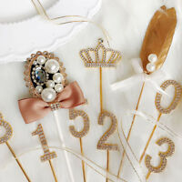 diamantbesetztes kuchen topper party - dekoration hochzeit lieferungen cupcake