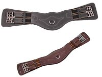 Horka Dressage Girth Leather BLACK AND BROWN -ALL SIZES- WITH ELASTIC FOR EXTRA