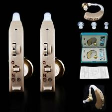 A Pair of Digital Hearing Aid Kit Behind the Ear #L BTE Sound Voice Amplifier